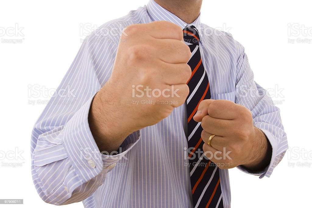 businessman punch royalty-free stock photo