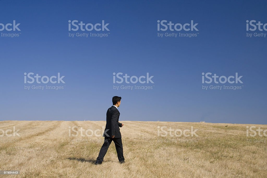 businessman pure walking royalty-free stock photo