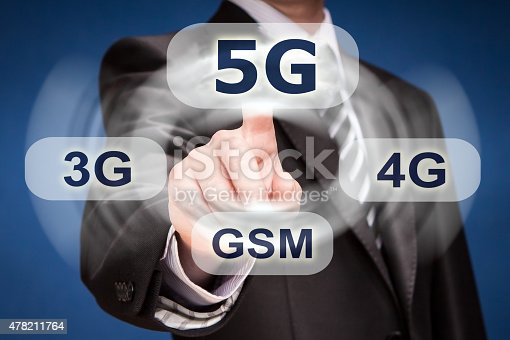 istock Businessman pushing finger on 5g button 478211764