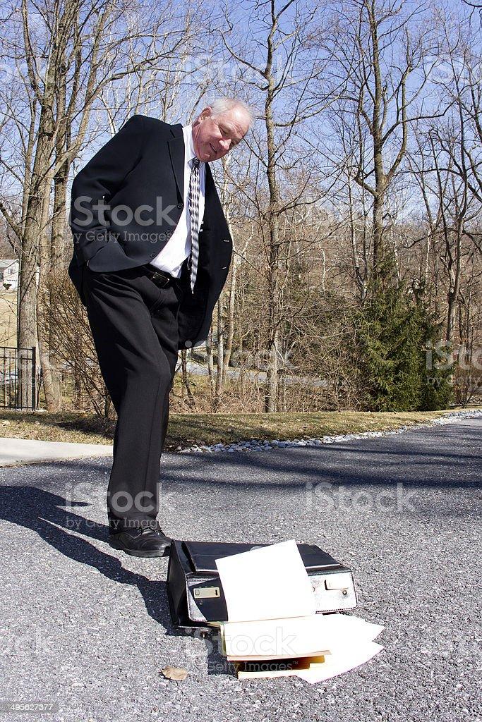 Businessman Quitting stock photo
