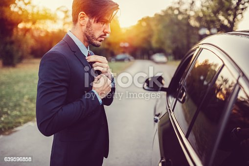 istock Businessman ready for work 639596858