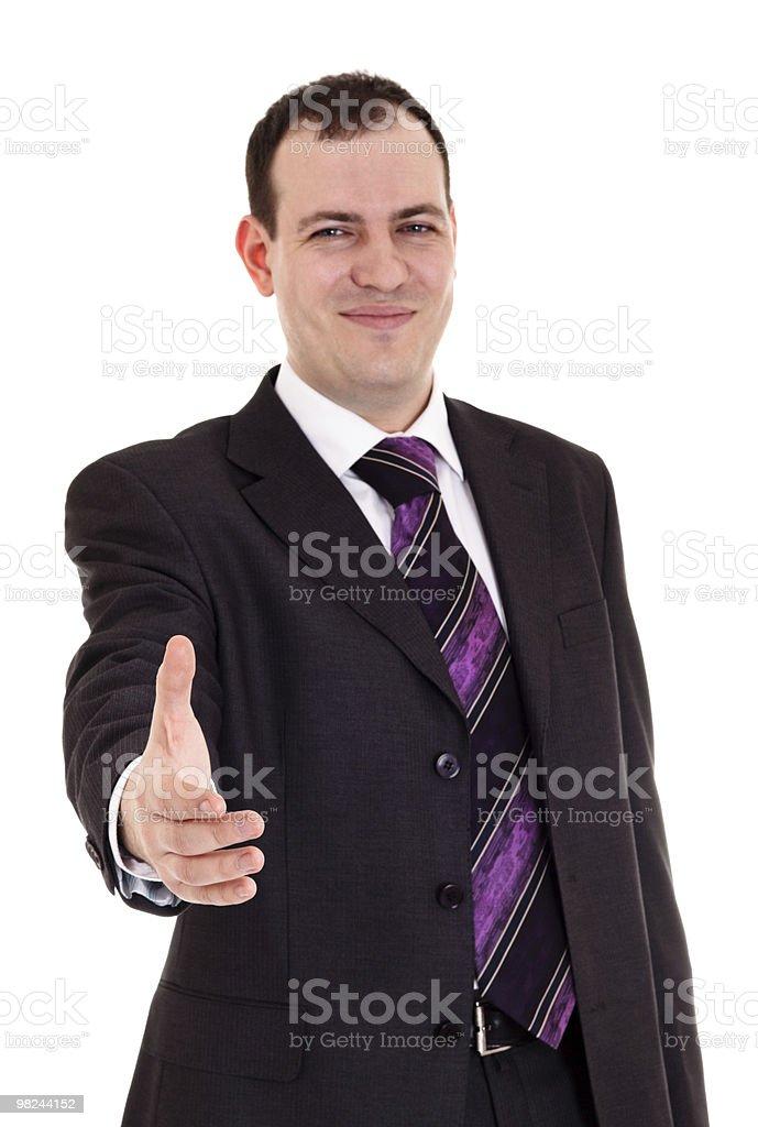 businessman ready shake hand royalty-free stock photo