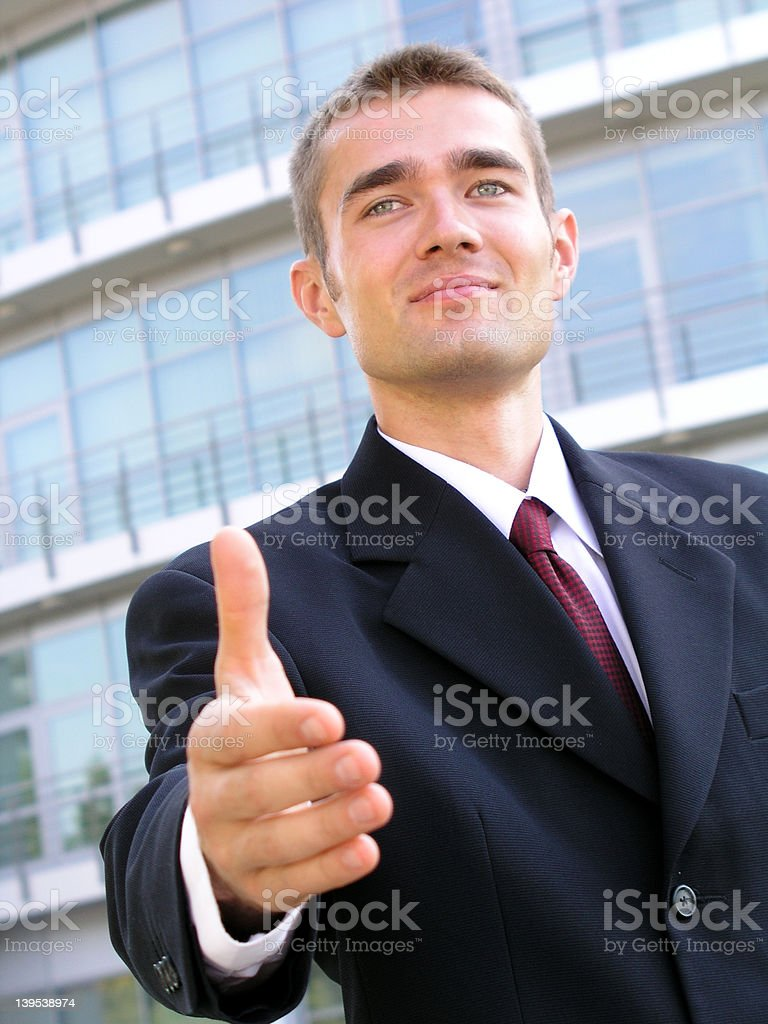 Businessman Ready to Shake Hands royalty-free stock photo