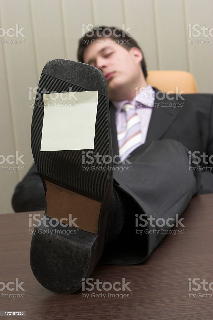 Businessman relaxing at the offfice royalty-free stock photo