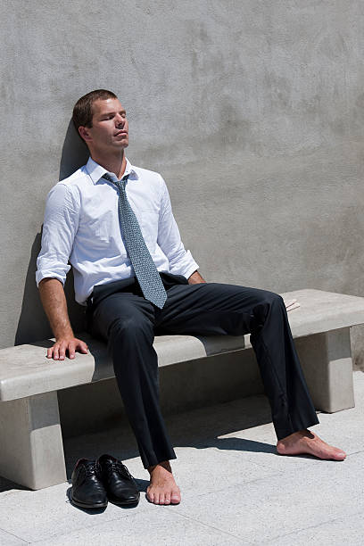Businessman Relaxing Outdoor stock photo