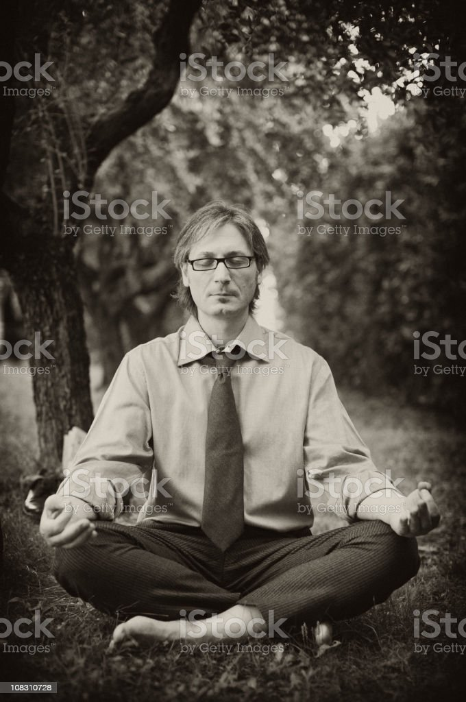 businessman relaxing royalty-free stock photo