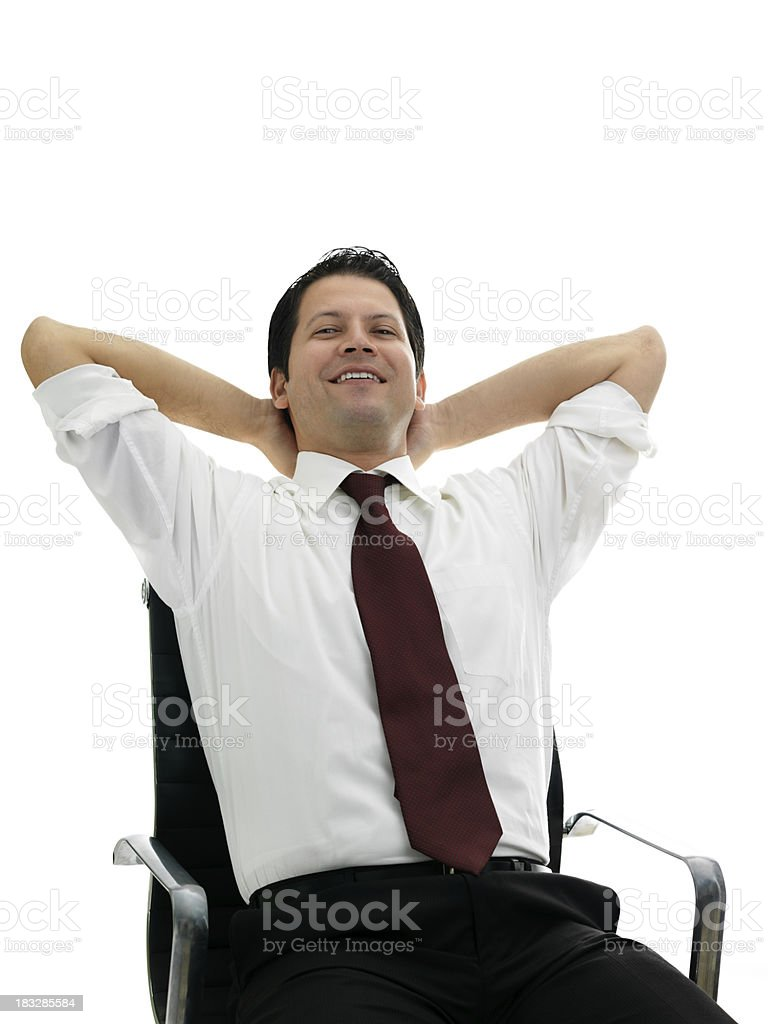 Businessman relaxing stock photo
