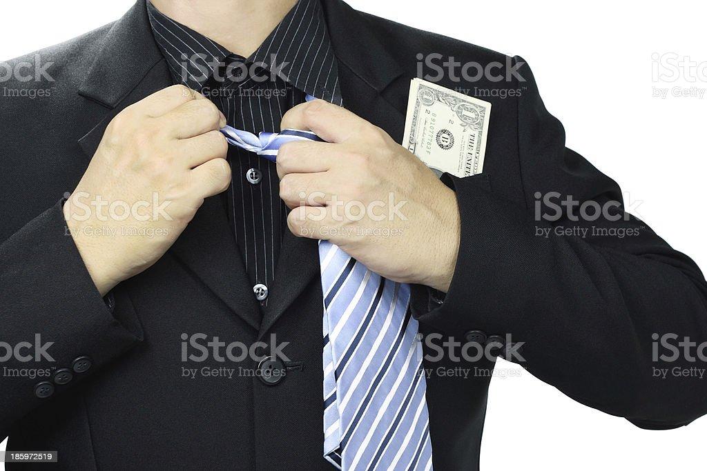 Businessman release necktie. royalty-free stock photo