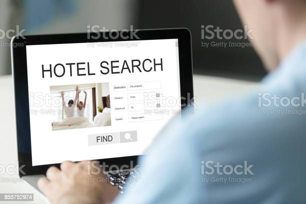 Businessman reserving room online using reservation booking ser picture id855752974?b=1&k=6&m=855752974&s=612x612&h=nkqy5h7nejm zderv6zkbvsmrrii1gnegz2uovodims=