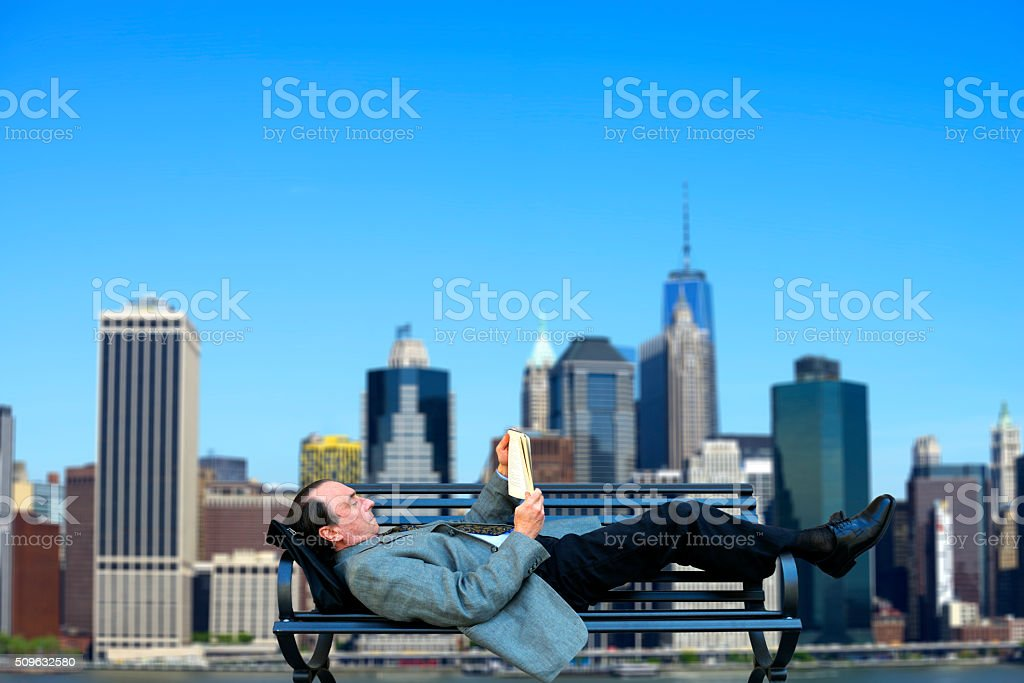 Businessman resting. New York City stock photo