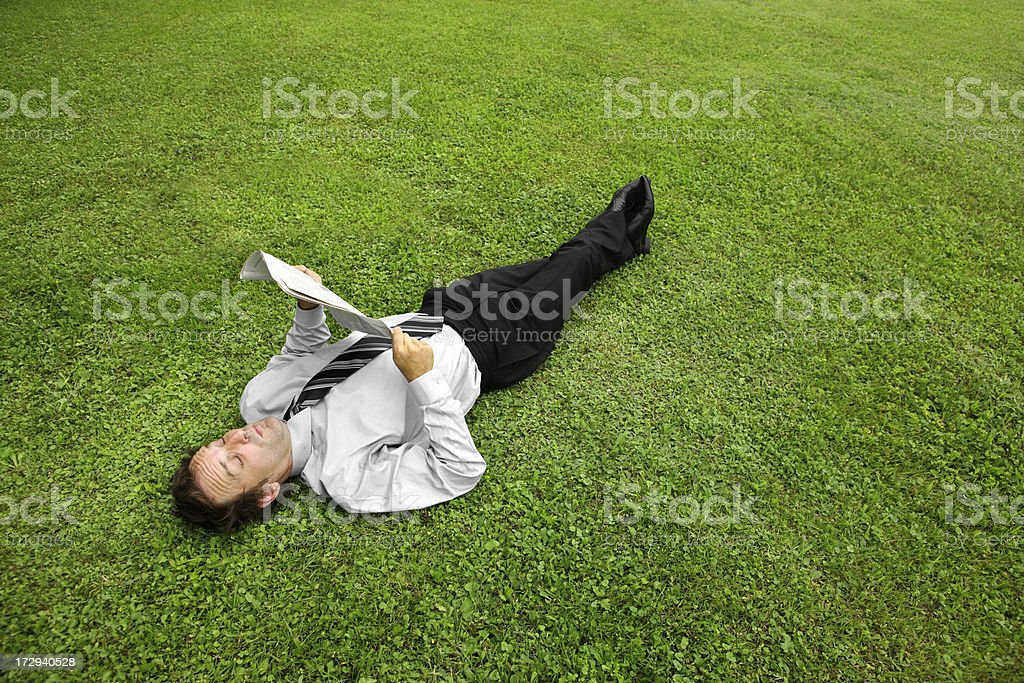 Businessman resting royalty-free stock photo