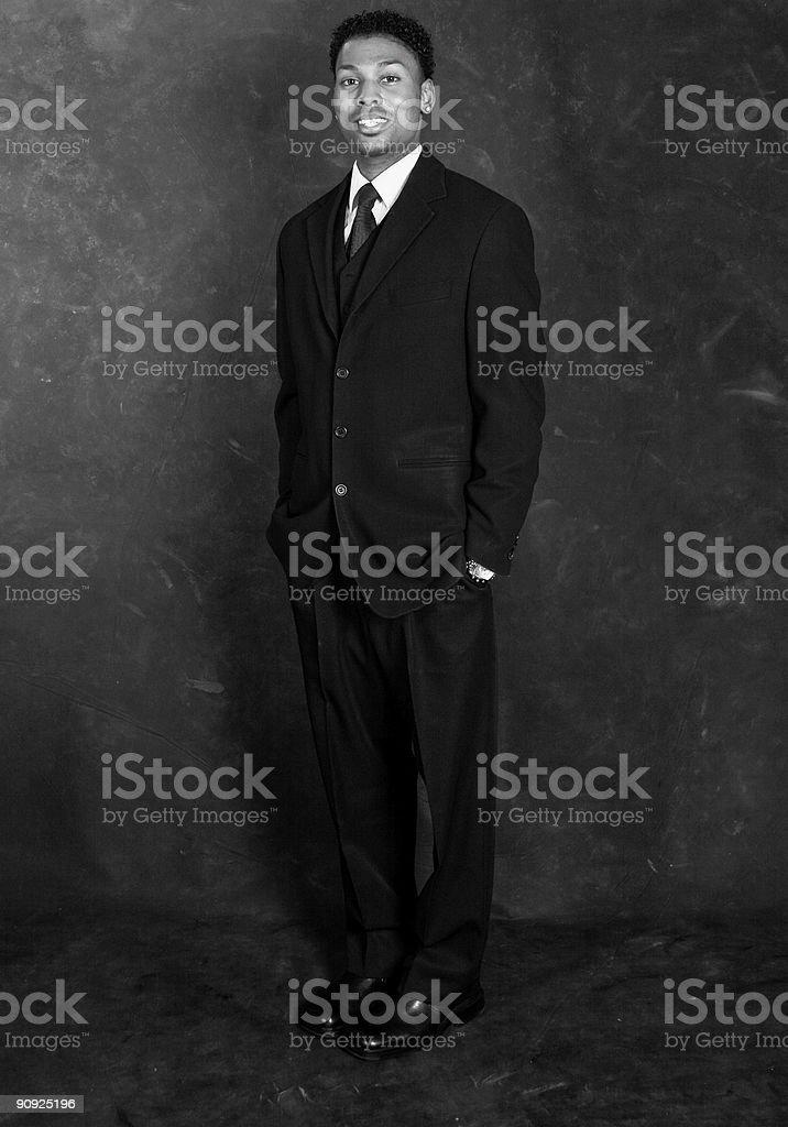 Businessman - Retro Style stock photo