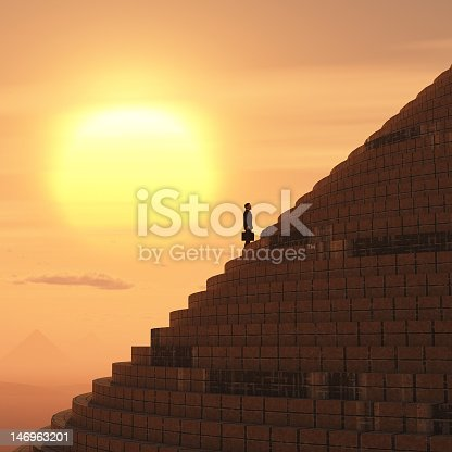 istock businessman rising on staircase 146963201