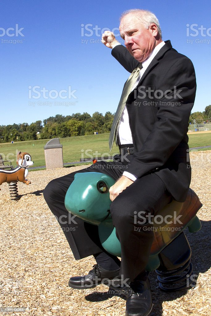 Businessman Rodeo stock photo