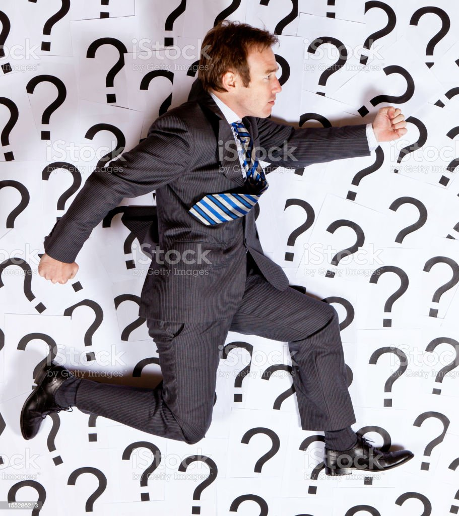 Businessman running royalty-free stock photo