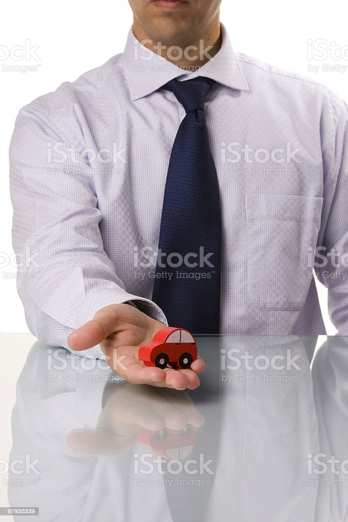 businessman selling a car royalty-free stock photo