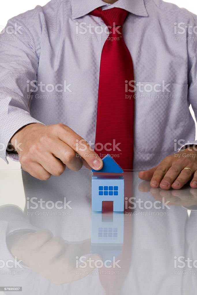 businessman selling a house royalty-free stock photo