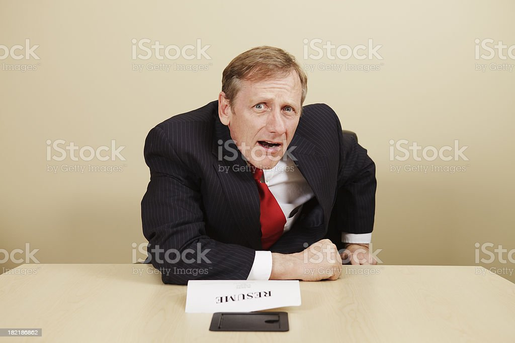 Businessman series, questioning facial expression royalty-free stock photo