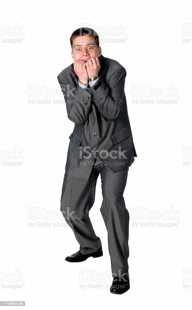 Businessman shocked royalty-free stock photo