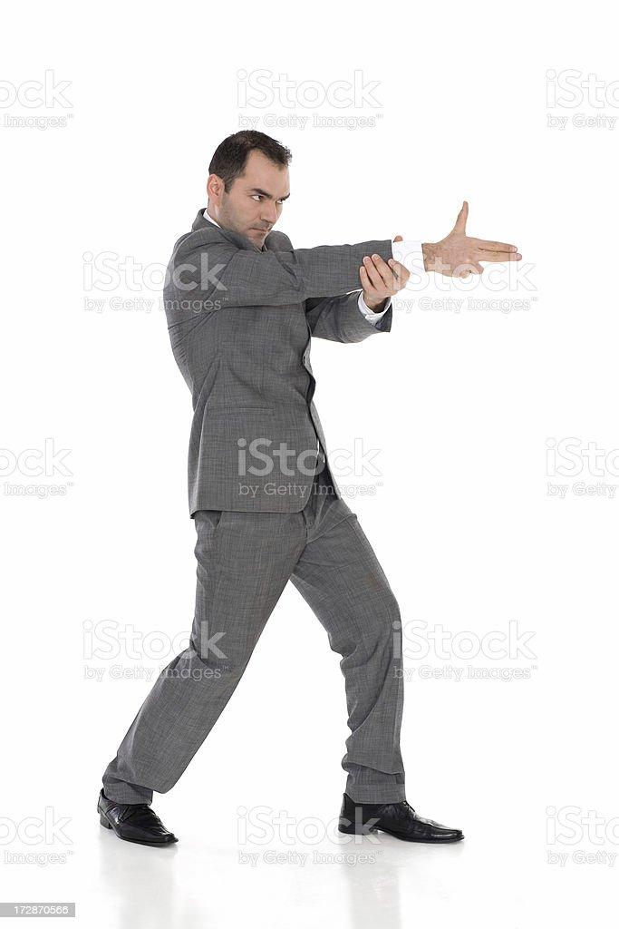 Businessman Shooting royalty-free stock photo