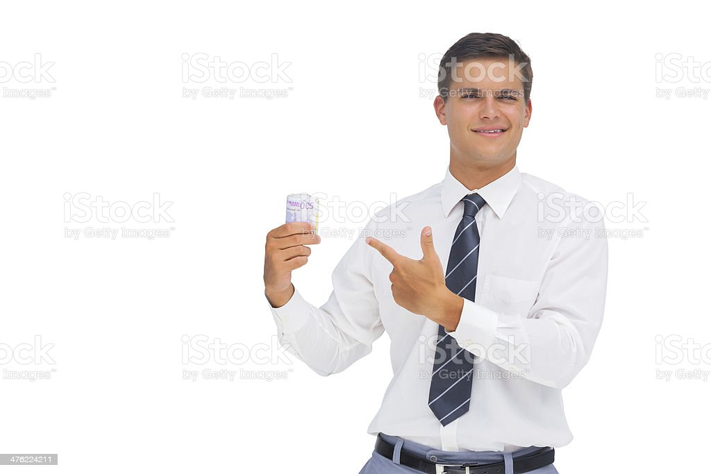Businessman showing a lot of cash stock photo