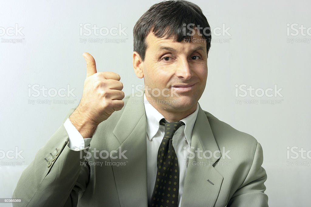 Businessman showing allright royalty-free stock photo