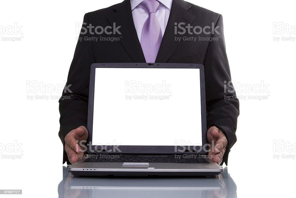 Businessman showing data royalty-free stock photo
