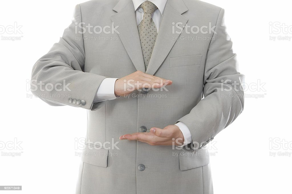 Businessman showing gesture isolated royalty-free stock photo