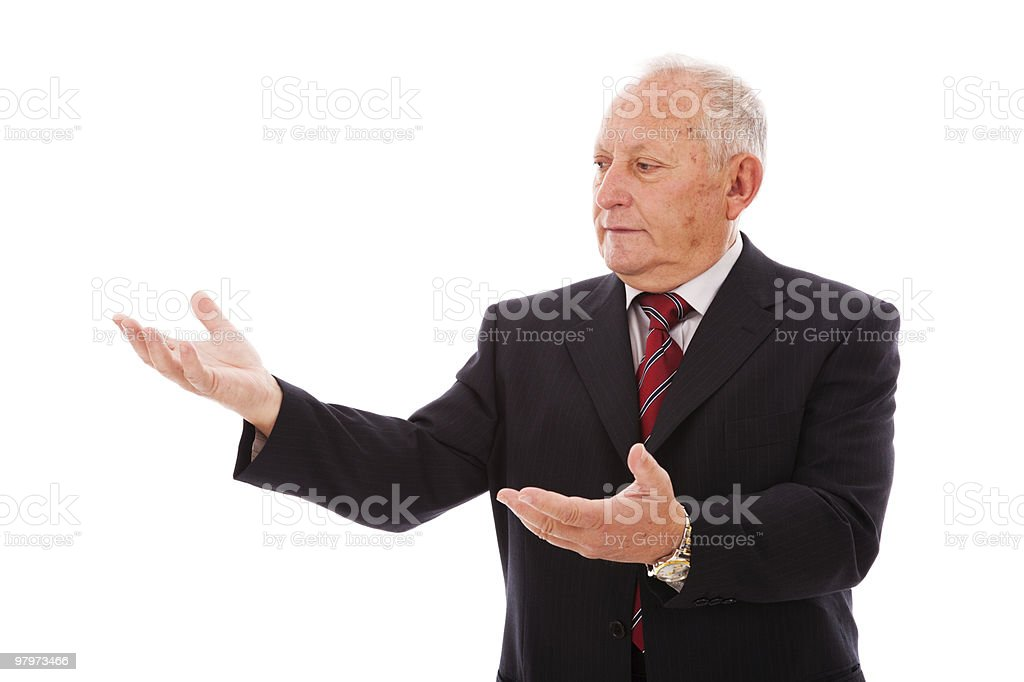 Businessman showing something royalty-free stock photo