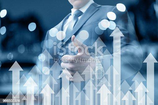 istock Businessman shows a hand good. 966502376