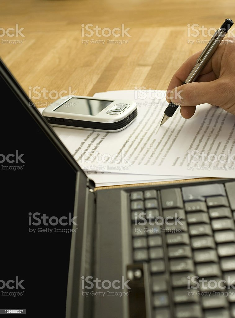 Businessman signing contract royalty-free stock photo