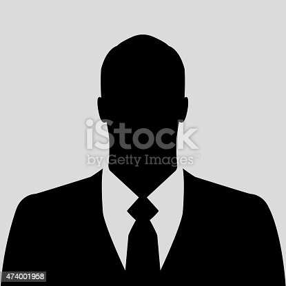 istock Businessman silhouette as avatar or default profile picture 474001958