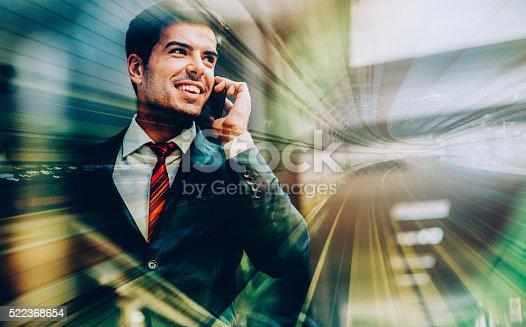 istock Businessman silhouette 522368654