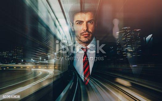 istock Businessman silhouette 522640808