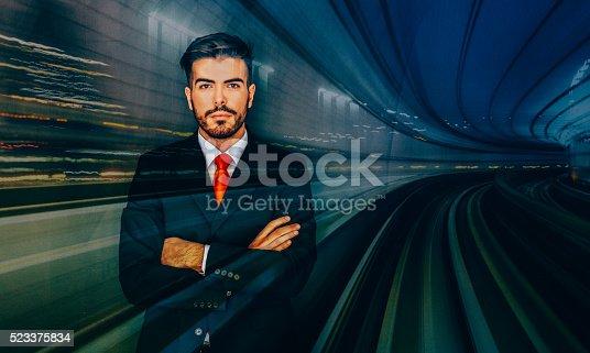 istock Businessman silhouette 523375834