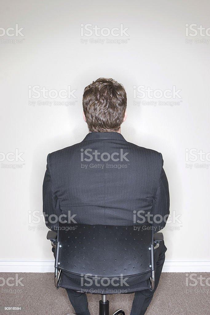 Businessman Sitting royalty-free stock photo