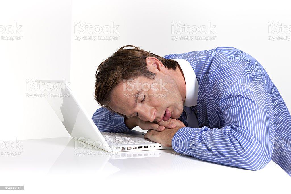 businessman sleeping royalty-free stock photo