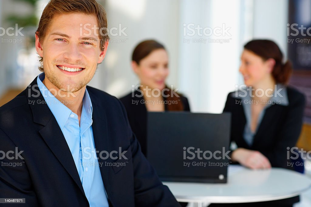 Businessman smiling royalty-free stock photo