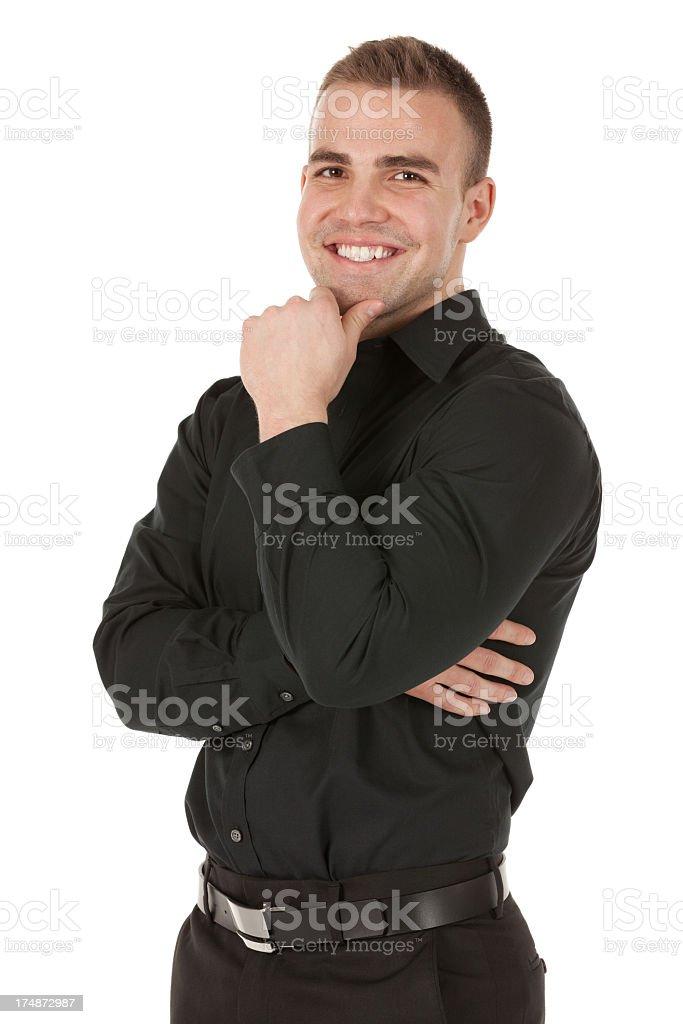 Businessman smiling royalty-free stock photo