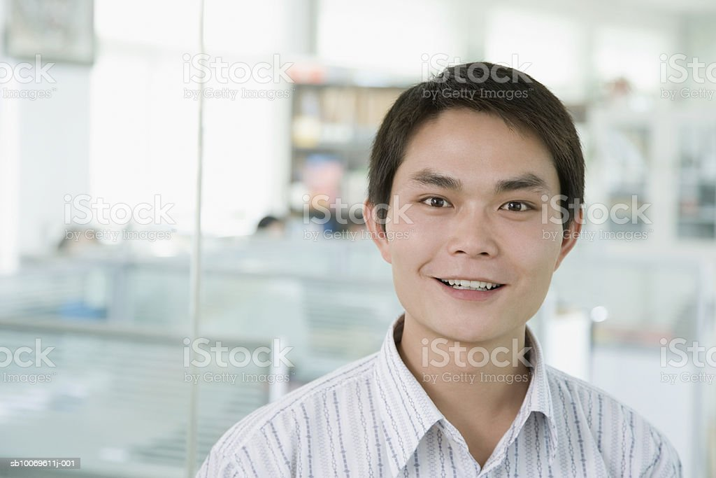 Businessman smiling, portrait royalty-free stock photo