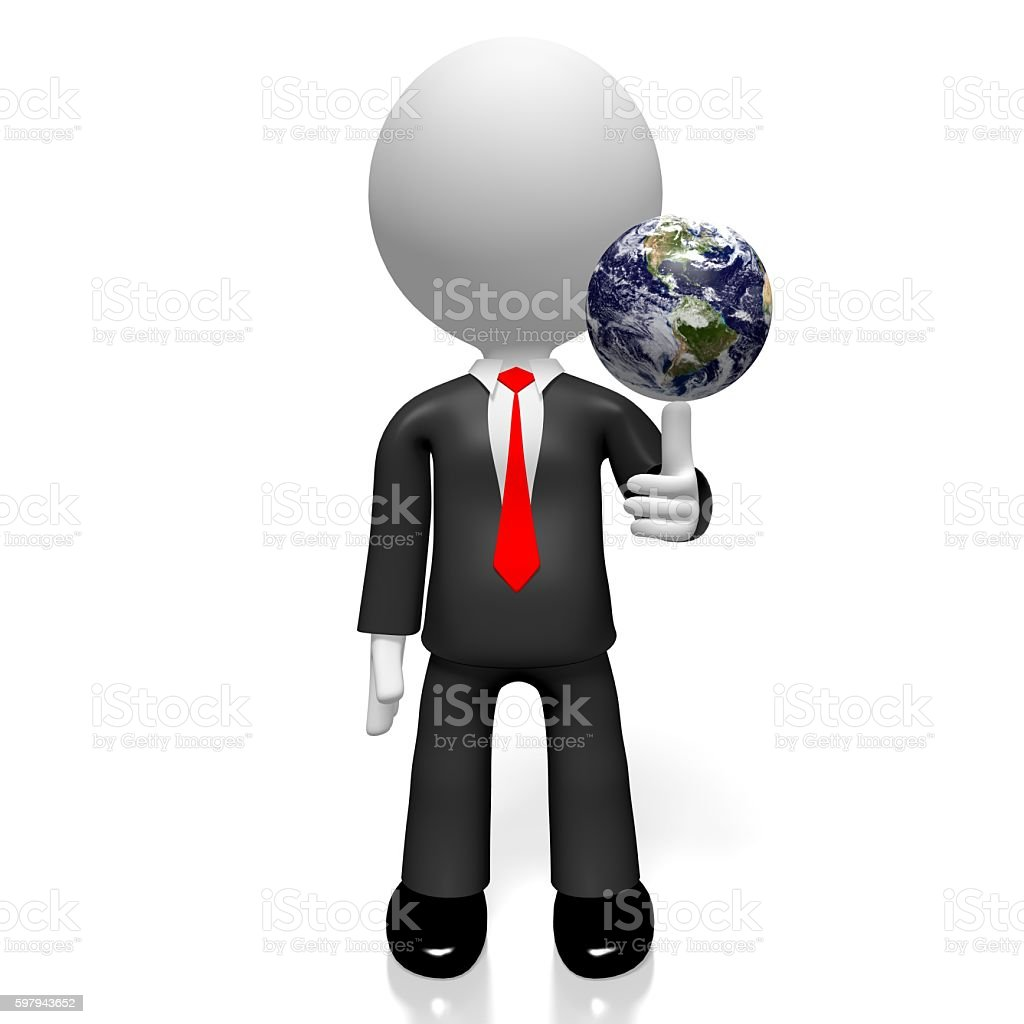 3D businessman, South and North America foto royalty-free