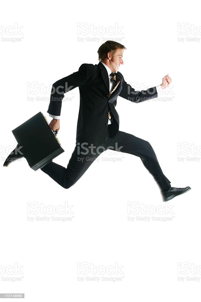 Businessman - Speed royalty-free stock photo
