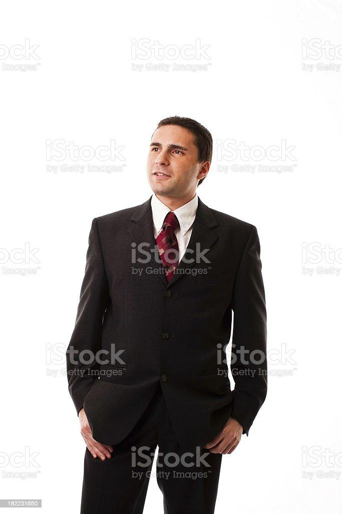 Businessman Standing Confidently, Studio Portrait royalty-free stock photo