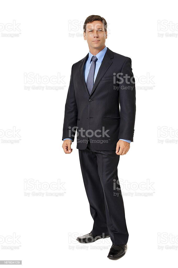 Businessman Standing Isolated on White Background royalty-free stock photo