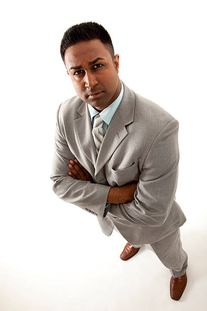 Businessman standing stock photo