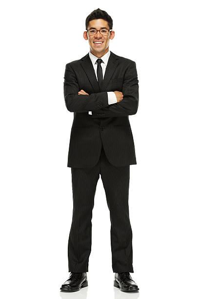 ビジネスマン立つ、腕を組む ストックフォト