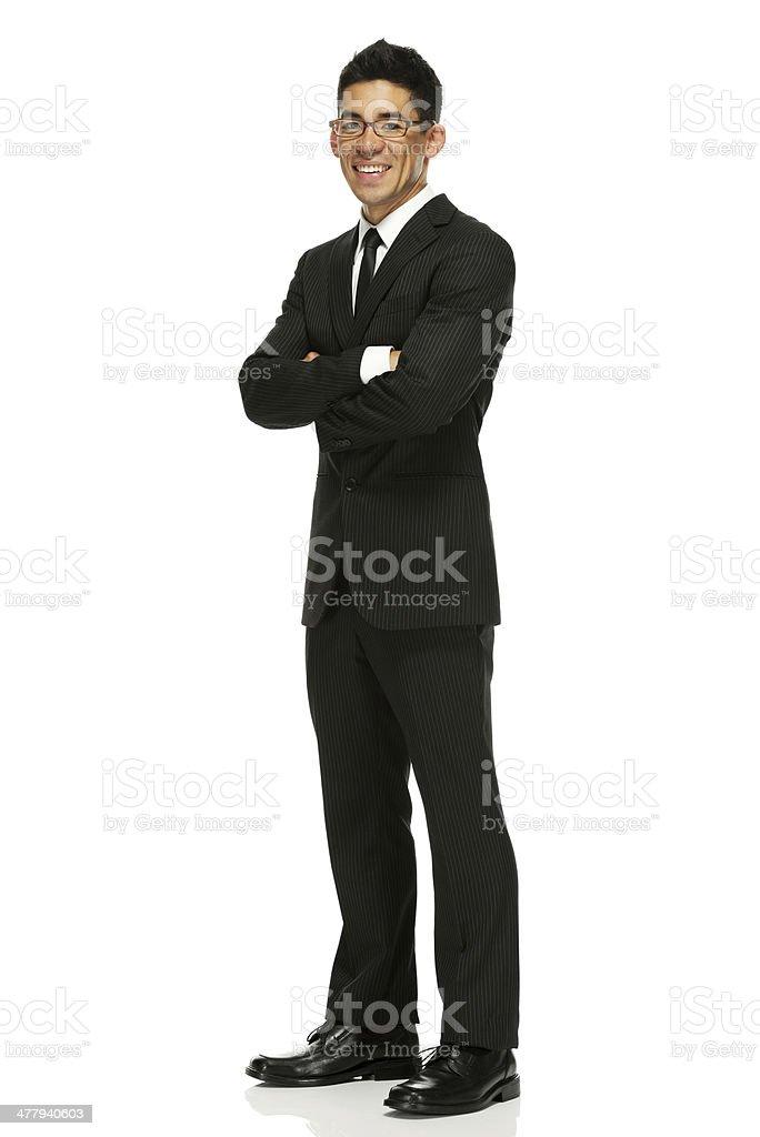 ビジネスマン立つ、腕を組む - 1人のロイヤリティフリーストックフォト