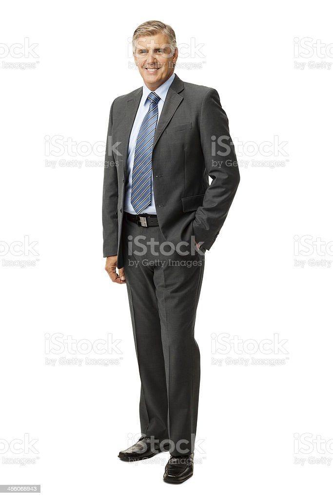 Geschäftsmann stehend mit Hand In Taschen – Foto