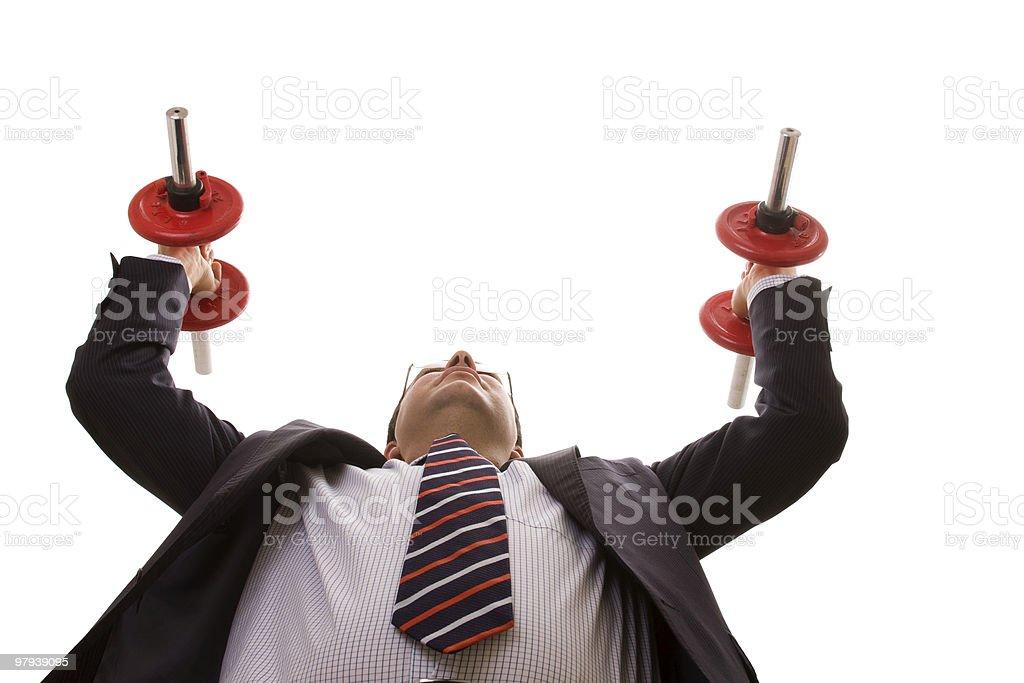 businessman strength royalty-free stock photo