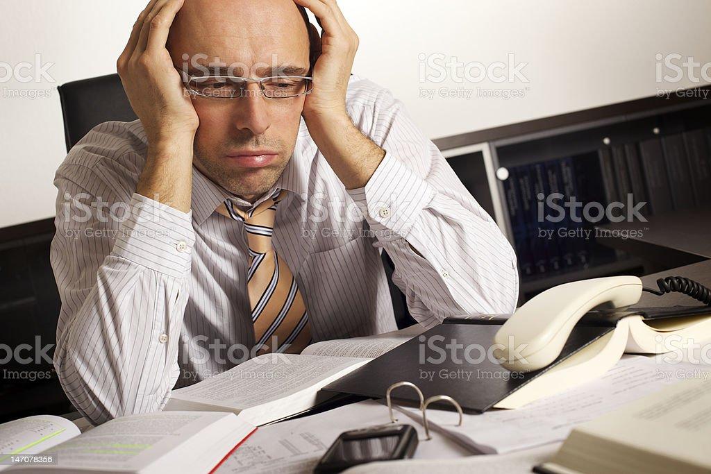 Businessman stressed royalty-free stock photo